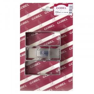 Cadre à Pâtisserie Rectangulaire en Inox avec Poussoir - 90 x 35 mm - Lot de 3 Gobel - 1
