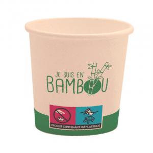 "Gobelet Bio ""Je Suis en Bambou"" - 10 cl - Lot de 50 FourniResto - 1"