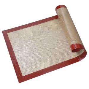 Tapis de Cuisson Toile de Verre et Silicone - 300 x 400 mm Tellier - 1