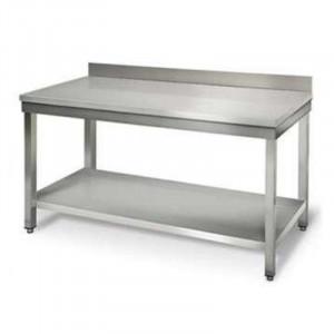 Table Inox avec Etagère et Dosseret - P 700 mm - L 1000 mm FourniResto - 1