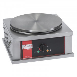 Crêpière Electrique Professionnelle Carrée à Usage Intensif - Ø 40 cm Sofraca - 1