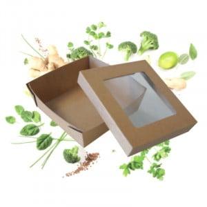 Boîte Repas à Fenêtre 120 x 120 - Ecoresponsable - Lot de 25 FourniResto - 1