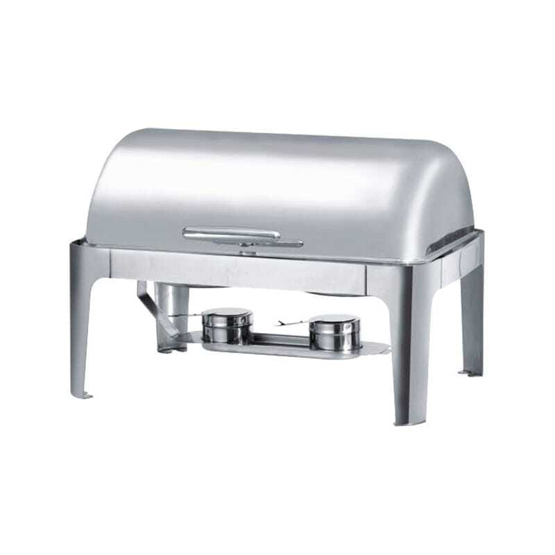 Chafing Dish Rectangulaire à Couvercle Rabattable