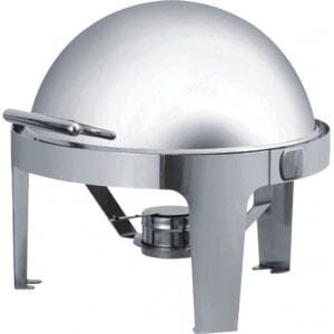 Chafing Dish Rond à Couvercle Rabattable FourniResto - 1