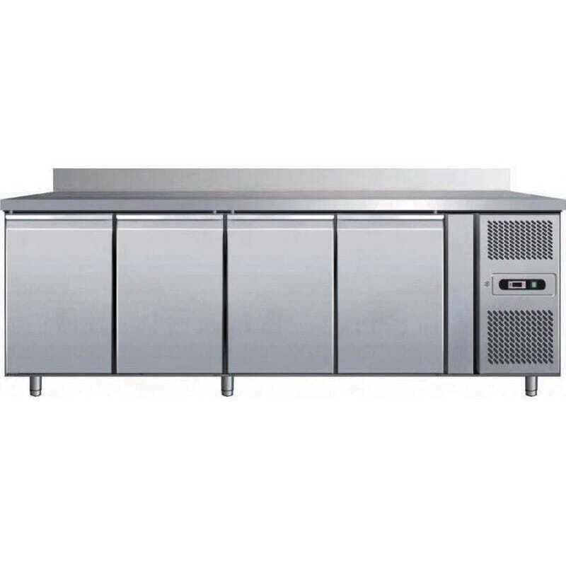 Table Réfrigérée GN1/1 - 4 Portes avec Dosseret