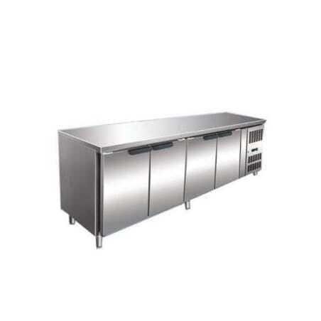 Table Réfrigérée Prof. 600 - 4 Portes avec Dosseret FourniResto - 2