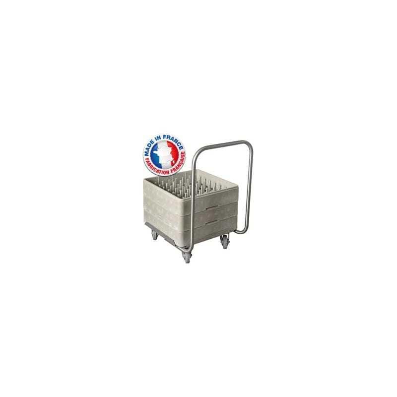 Chariot Porte-Casiers et Plateau 500x500 - Avec guidon