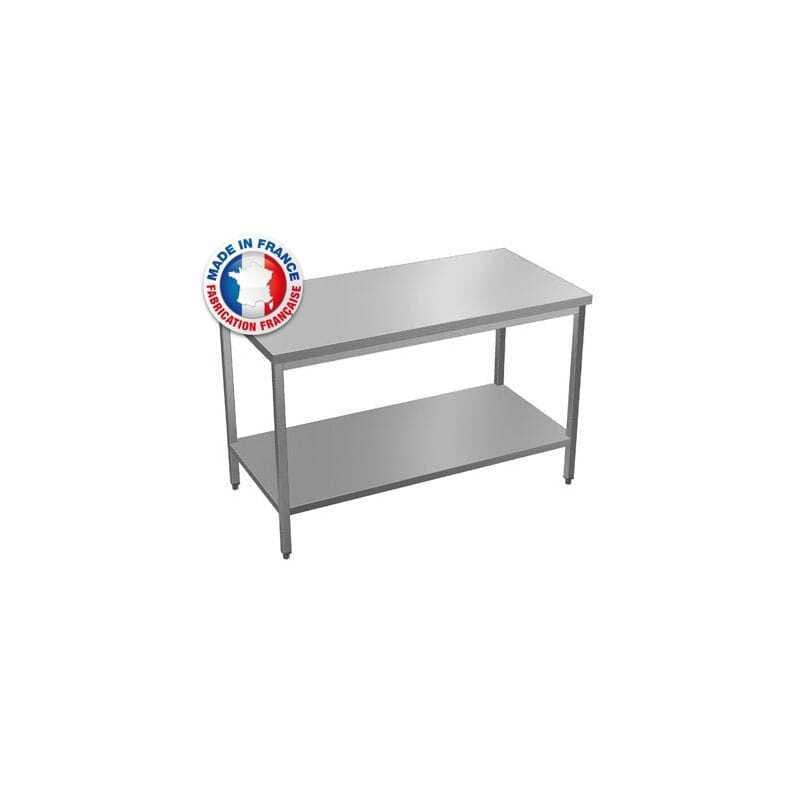 Table Centrale avec Option Étagère Basse Sur Mesure