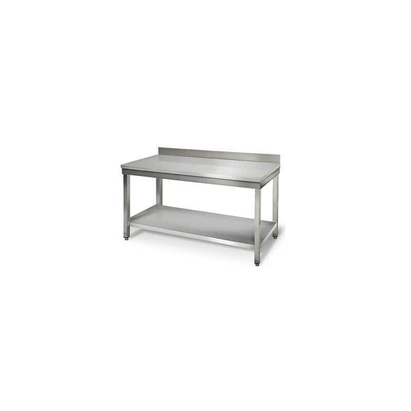 Table Inox avec Dosseret - Profondeur 700 mm