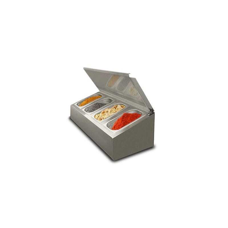 Saladette à poser non réfrigérée - 4 x GN1/4