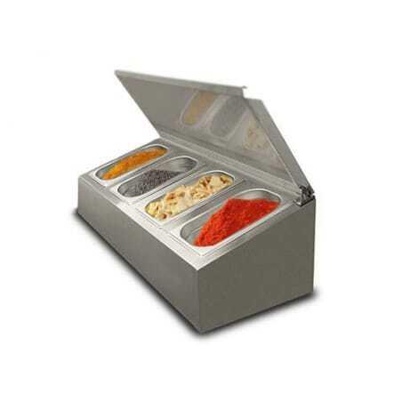Saladette à poser non réfrigérée - 4 x GN1/4 FourniResto - 1