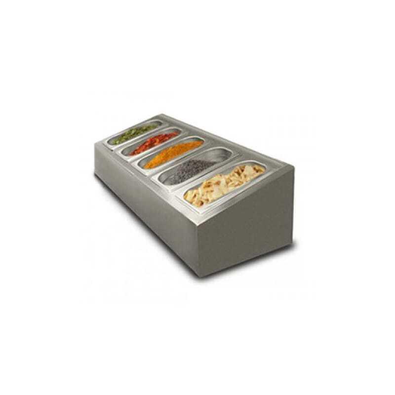 Saladette à poser non réfrigérée - 5 x GN1/4