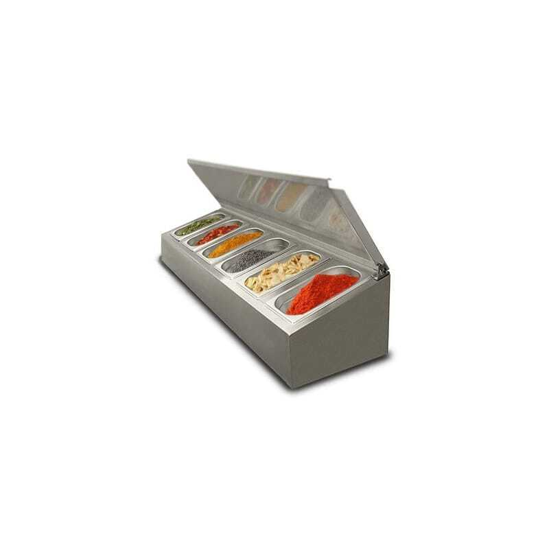 Saladette à poser non réfrigérée - 6 x GN1/4