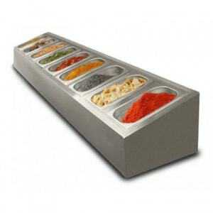 Saladette à poser non réfrigérée  - 9 x GN1/4 FourniResto - 1