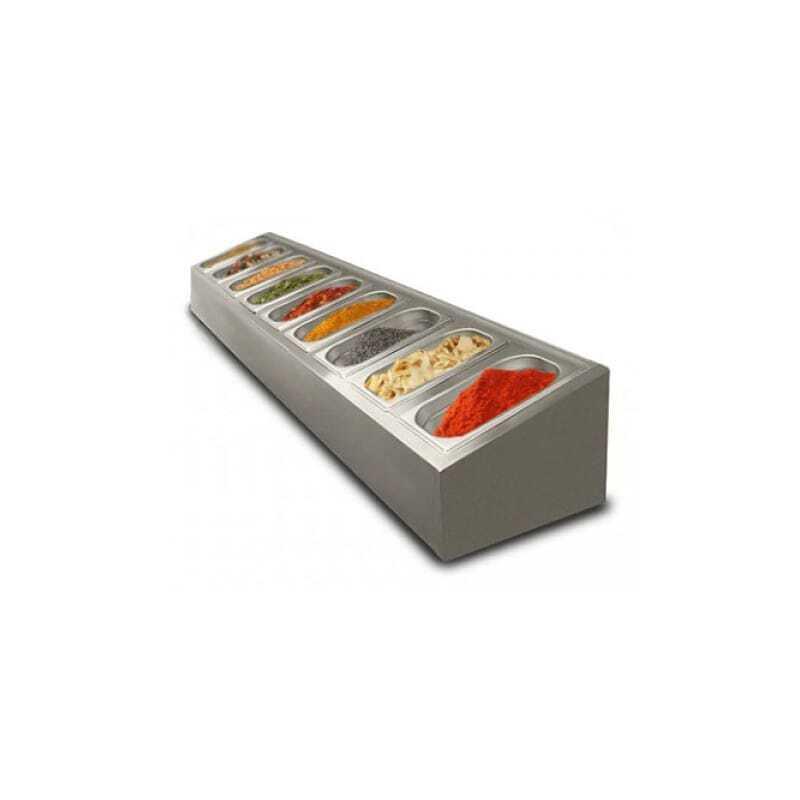 Saladette à poser non réfrigérée - 9 x GN1/4