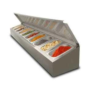 Saladette à poser non réfrigérée - 8 x GN1/4 FourniResto - 1