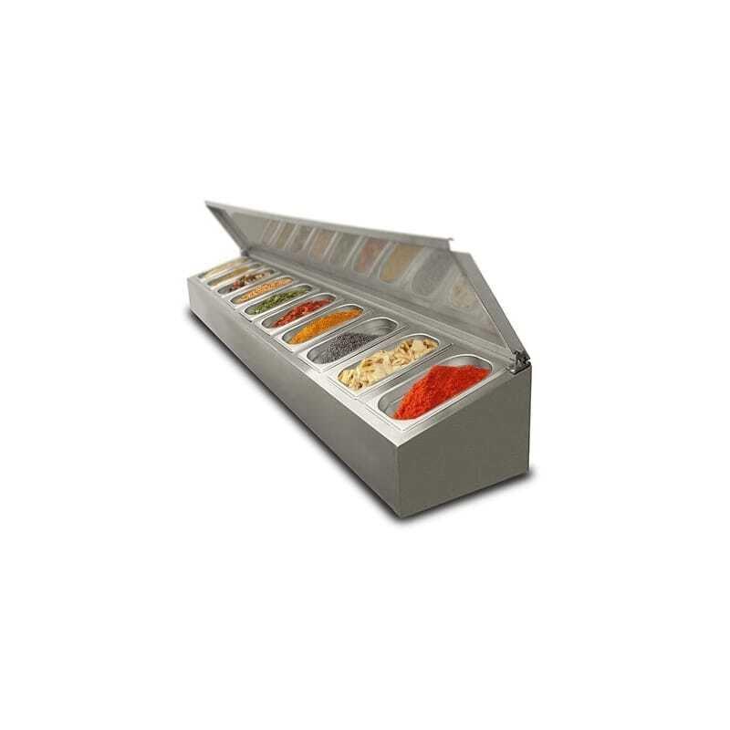 Saladette à poser non réfrigérée - 8 x GN1/4