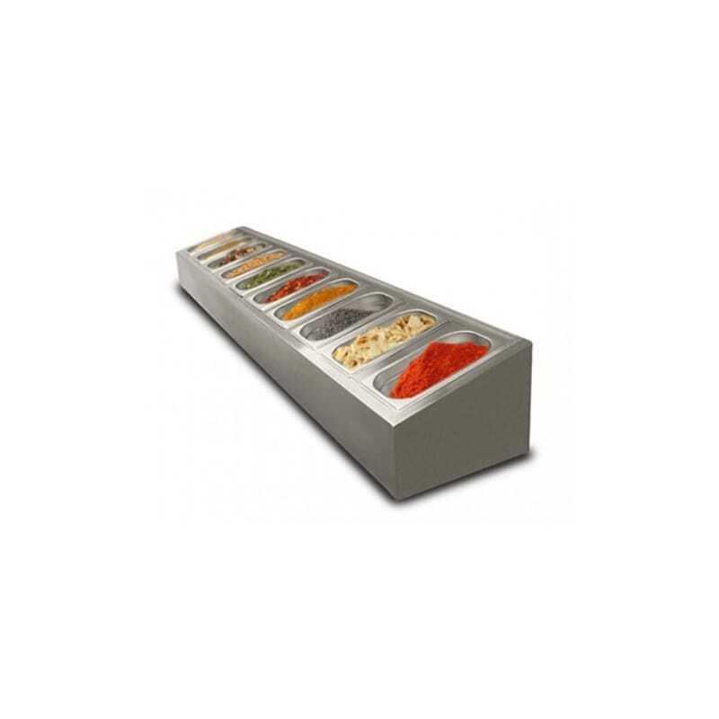 Saladette à poser non réfrigérée - 10 x GN1/4