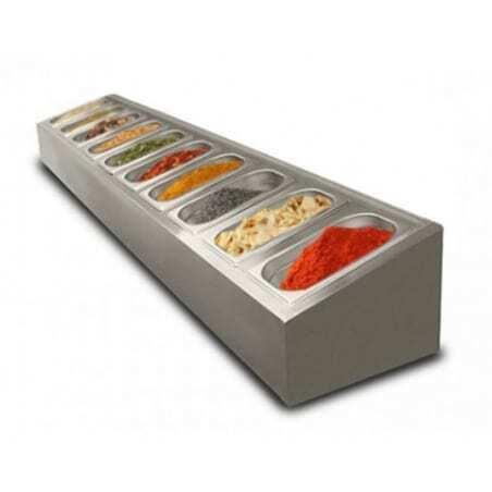 Saladette à poser non réfrigérée - 10 x GN1/4 FourniResto - 1