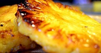 Ananas caramélisé à la plancha