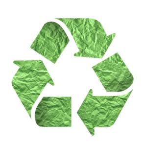 Logo du recyclage des déchets.